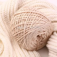 Wholesale 800g Classical Sweater Scarve Hats Knitwear Hand Knitted Yarn For Knitting Crocheting Thick Wool Yarn DIY Milk Yarns Cotton