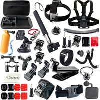 Wholesale Gopro Accessories Set Helmet Harness Chest Belt Head Mount Strap Monopod Go pro hero3 Hero session xiaomi yi SJ4000 GS42