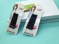 Wholesale simple black hairpin straight and wave Barrette cm cm hair bobby pin traditional hair clip
