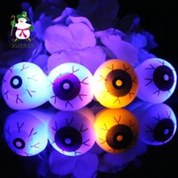 Wholesale Halloween Creative Eyes Shine Led Ring Finger Lights Flash Terror Rings