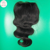Wholesale Virgin Brazilian Lace Top Closure Cheapest Indian Temple Human Hair Closures Fast DHL shipping
