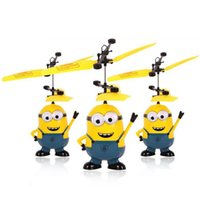 Wholesale Hot Despicable Me Minion Helikopter Remote Control Toys Mini RC Helicopter Aircraft Model Gift for Kids Girls And Boys cm