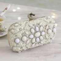 beading purses - 2016 Newest Luxury Mini Bags Crystals Beads Bridal Wedding Evening Bag One Shoulder Brides Wallets Handbags Clutches Purse