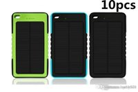 Wholesale 10X Waterproof Solar Charger mah Solar Power Bank External Battery for smartphone ipad camera iPhone Samsung TY