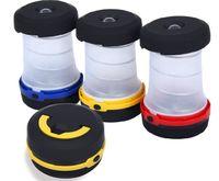 Linterna de camping Linterna LED linterna plegable mini linterna lámpara de luz de la lámpara Powered By AA baterías no incluidas para el camping senderismo Gad al aire libre