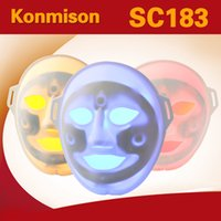 Wholesale Led facial mask for home use with photon colors for skin rejuvenation pdt photon led face mask