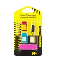 Wholesale 1000sets Aluminum Metal Nano SIM Micro SIM Card Adapter Converter Eject Pin Set in For iPhone Plus for samsung s7