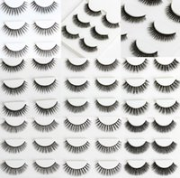 Wholesale 3 Pairs Fashion D False Eyelashes kinds of Natural Or Thick Fashion Lash can be chosen Fake Lashes Set kits