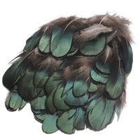 art craft set - 50pcs set Beautiful Natural Green Pheasant Feathers For Crafts Millinery Embellishments DIY Handmake Arts Material Accessories