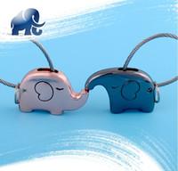 aluminum couplings - New D Lovely Kawii Couple Elephant Key Chain Key Ring Handbag Purse Car Pendant Keyfob Keychain Romantic Lover s Gift