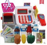 Wholesale Retail cash Register shopping cart Toy suit kids Pretend Play Furniture Toys children Educational Interactive toys retail