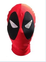 Wholesale Unisex Halloween Party Deadpool marvel Mask Hood Lycra Spandex Zentai costume party
