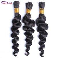 peruvian human hair bulk for braiding - Human Hair Bulk No Weft A Peruvian Loose Wave Hair Bundles Curly Human Hair Extensions For Micro braids Hair