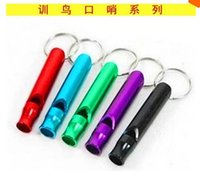 Wholesale Multi functional portable multicolor parrot bird pigeon pet whistle aluminum alloy metal material training aids