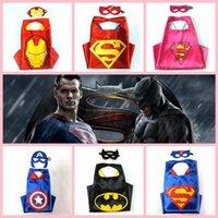 america costume - 69 designs children superhero supergirl batman captain america robin transformer cape and mask sets children christmas gifts HHA948