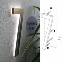 Wholesale Factory Outlet Outdoor stainless steel back lit led sign numbers for house