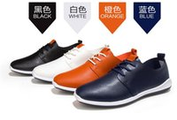 Cheap The new men's single microfiber leather shoes casual shoes breathable men's shoes British business man pure white leather shoes