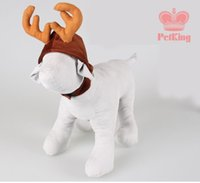 antlers for dogs - Christmas gift Warm winter hat for Dog Winter pet Cat Dog Christmas Elk Antlers Hats cape Pet costume hat Grooming accessories