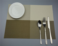 pvc table cloth - 150pcs Table Mats Placemat Colors Decoration PVC Kitchen Table Mats Dinning Waterproof Table Cloth ZA0761