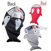 Wholesale Shark Children Sleeping Bag Newborns Sleeping Bag Winter Strollers Bed Swaddle Blanket Wrap Cute Bedding Baby