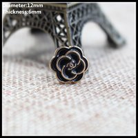 Wholesale mm diamond zinc alloy metal buttons gold silver round button clothing pants sewing accessories scrapbook x48
