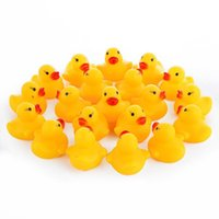 Wholesale High Quality Baby Bath Water Duck Toy Sounds Mini Yellow Rubber Ducks Bath Small Duck Toy Children Swiming Beach Gifts MOQ