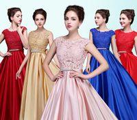 Vestidos de noche largos elegantes Rojo púrpura blanco 2016 Grace Karin Chiffon mujeres Vestidos de noche de la ocasión especial Vestidos de noche formales