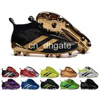 Wholesale 2016 Newest Ace Purecontrol Cheap Original Soccer Cleats Men s Soccer Shoes FG AG Waterproof High Quality Football Sneakers Size