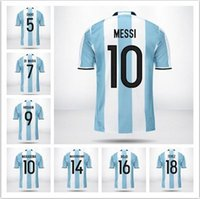 argentina soccer balls - Nova camisa Argentina AGUERO DI MARIA HIGUAIN Dybala TEVEZ jérsei de futebol da COPA AMÉRICA jerseys