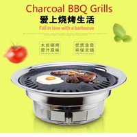Wholesale portable charcoal BBQ Grills hot sale barbecue necessary bbq grill small circular BBQ oven packs furna