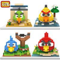 angry diamond - loz diamond particles angry bird Building blocks toys cartoon CM Bricks Fight inserted puzzle blocks with box DHL shipping C699