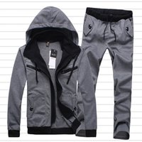 Wholesale Brand Men s Sportswear Chandal Hombre Casual Sweatshirt Men Hip Hop Tracksuits Fashion Sport Suit Clothing Mens Jogger Set MS108