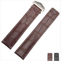 band crocodiles - High quality Black Brown Crocodile lines Genuine Leather watch strap for Tag Heuer mm mm mm genuine leather Watch Band