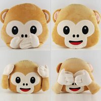 Wholesale 4 Brand New Cute Monkey Pillow Cushion Sofa Cushions Office Nap Cartoon Pillows Plush Toys FG02249