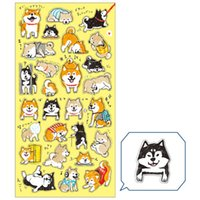 Wholesale 24 Cute cat and Japanese Shiba stickers Kawaii decorative stationery sticker for diary phone DIY scrapbooking