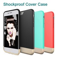 apple style slider - For Iphone Shockproof Cover Case Hybrid Rugged Rubber Hard Slider Style Protective SOFT Interior Scratch Protection Hard S7 DHL SCA221