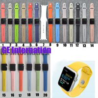 Wholesale 38mm mm Replacement strap For Apple Watch Strap Silicone Wrist Band Wristband with Adapter Connector Prix spot