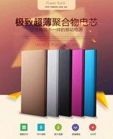 Nuevo banco de la energía 20000mAh ultrafino delgado portátil de energía de la batería de alimentación externa libro cargador de batería de emergencia para el iphone el Powerbank 6 6s UPS