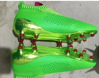 band slip - 2016 Top original ACE Primeknit Slip on FG Green Football Boots Men Soccer Shoes Botas Futbol Hombre Outdoor Soccer Cleats Soccer Bo