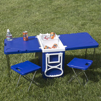 Wholesale Table And Chairs Multi Function Rolling Cooler With Picnic Camping Outdoor