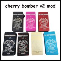 <b>Cherry Bomber v2</b> Box Mod Vaporisateur Clone Carré Mods mécaniques 7 Couleurs Fit ONE 18650 batterie Pour Vitesse rda Orichid V2 V3