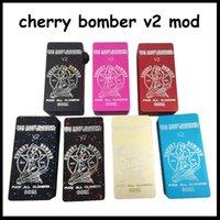 <b>Cherry Bomber v2</b> Caja Mod Clone Vaporizador Cuadrado Mecánico 7 Colores Fit ONE 18650 Batería Para Velocidad rda Orichid V2 V3