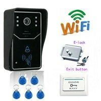 Wholesale freeship by DHL WiFi Wireless Video Door Phone Door Monitor Vvideo door phone remote controlled remote door intercom doorbell