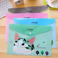 Wholesale mm Kawaii Happy Cat A4 File bag PVC waterproof Filebag Document bag DIY Stationery bag office school supplies