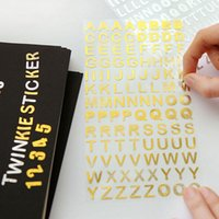 alphabet sheets - 10 Sheets New Stickers Children A to Z Alphabet Sticker Adhesive DIY Kid Toy Album Diaries Decoration Silver Gold Color