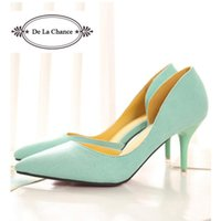 Cheap 2016 New Arrival White Mint Green Wedding Shoes Stiletto Red Bottom Pointed Toe Women Pumps For Women Prom High Heel Shoes