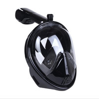 Wholesale Hot selling Upgrade Scuba set Full Face Easy Breath Snorkeing Swimming Diving mask with Gopro Amount on Quality DivingMasks