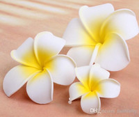 Wholesale 2016 Beach Cotton Flower Stunning Hair Clips Handmade Bridal Jewelry Girls Head Pins Light Yellow Tiaras Headpieces Flower Hairpins Faithful