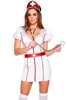 adult nurse uniforms - Adult Sexy White Nurse Uniform Doctor Costume Halloween Party Cosplay Women Fancy Dress Nurse Costume Outfit Belt Hat