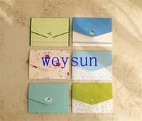 Wholesale floral folding greeting card thank you card birthday christmas card envelope writing paper stationery